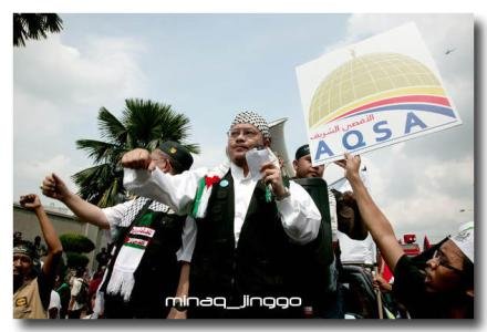 Anti-israel rally. Pix courtesy f Minaq Jinggo