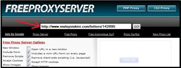 How to view Malaysiakini via proxy server |