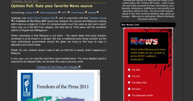 myAsylum- Opinion Poll- Rate your favorite News source_1304853212232